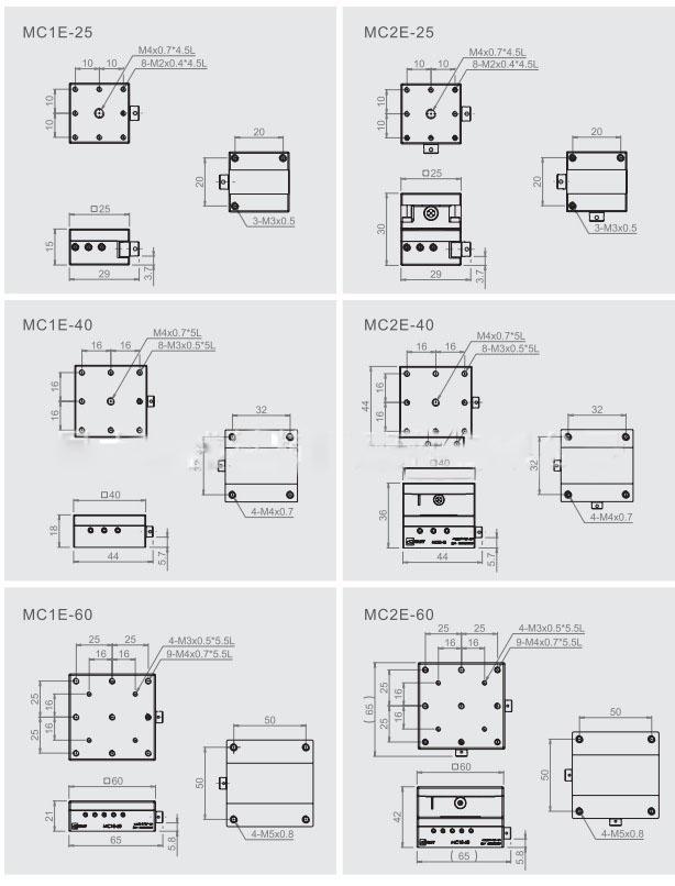 GMT-MC1E六角扳手型燕尾槽式手动滑台,安昂商城一站式 1. 产品介绍/特性 GMT滑台可应用于高精度或中、重荷重之各种生产机械,检查装置,精密定位,定量移动。 有各种方式滑台种类可互相搭配【单轴《X轴》、双轴《XY轴》、Z轴、轴、轴...。】 可依据客户精密微调、定位、定量移动之需求,进行微调进给也可大量进给。 可配合客户精密机械或仪器,固定于适用位置。 多样性之进给方式如粗微动把手/分厘卡测头、进给螺丝、齿条与齿轮,附有刻度、能够管理移动量值。 XY轴、XZ轴等组合滑台,因为在出货前调整过滑台的